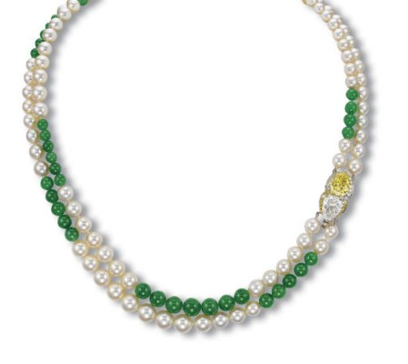 A TWO-STRAND CULTURED PEARL, J