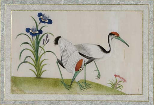 A GROUP OF SIX CHINESE EXPORT GOUACHE PAINTINGS OF BIRDS,