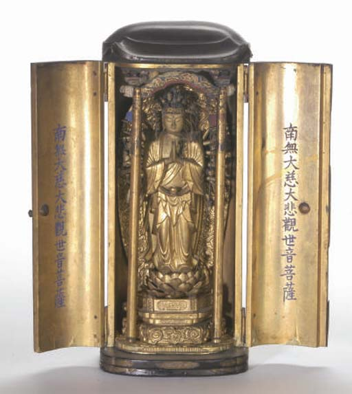A JAPANESE LACQUERED TRAVELING SHRINE,