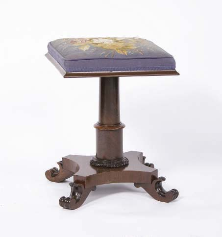 A VICTORIAN ROSEWOOD PIANO STOOL,**