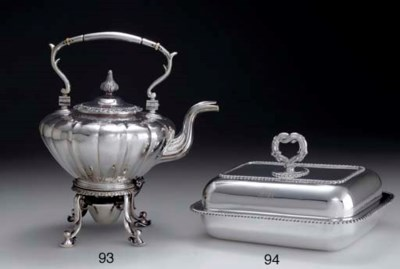 A SILVER COVERED ENTREE DISH
