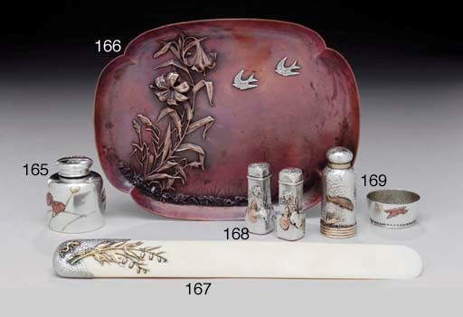 A SILVER AND MIXED-METAL INKWE