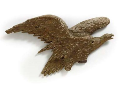 A GILTWOOD ARCHITECTURAL EAGLE