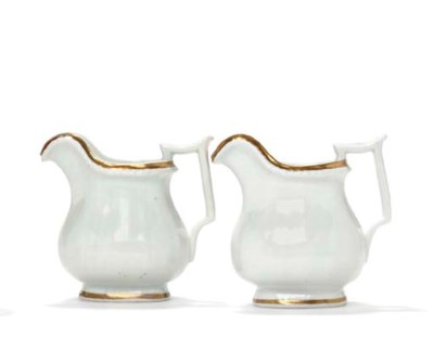 TWO GILT DECORATED PORCELAIN S
