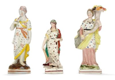THREE STAFFORDSHIRE PEARLWARE