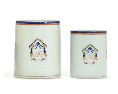 TWO CHINESE EXPORT PORCELAIN G