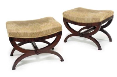 A PAIR OF CLASSICAL CURULE-FOR