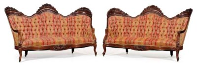 A PAIR ROCOCO REVIVAL CARVED R