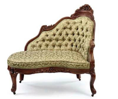 A ROCOCO REVIVAL CARVED ROSEWO