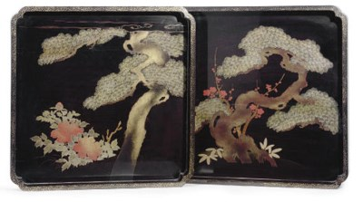 A Pair of Japanese Lacquer Tra