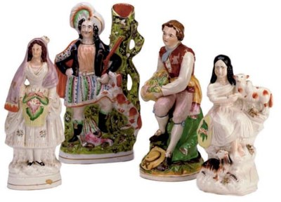 TWELVE STAFFORDSHIRE FIGURES,