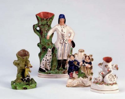 A GROUP OF SEVEN STAFFORDSHIRE