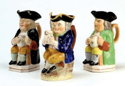 SEVEN TOBY JUGS AND A CHARACTE