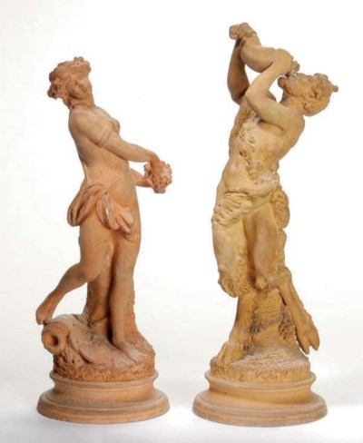 TWO CONTINENTAL TERRACOTTA FIG