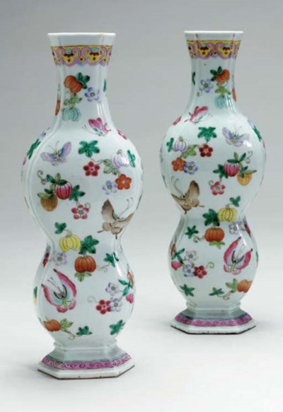A PAIR OF UNUSUAL CHINESE FAMI
