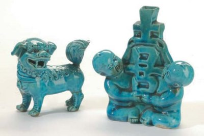 AN UNUSUAL CHINESE TURQUOISE-G