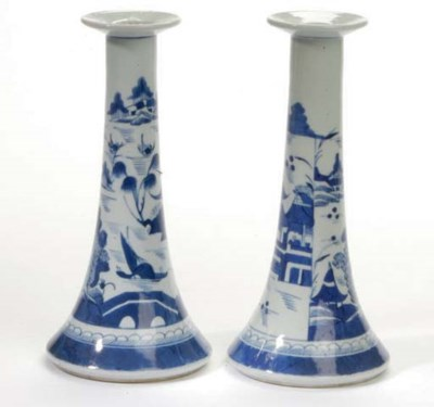 A PAIR OF CHINESE CANTON BLUE