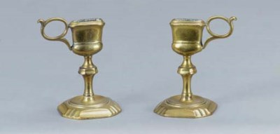 A PAIR OF SNUFFER STANDS,