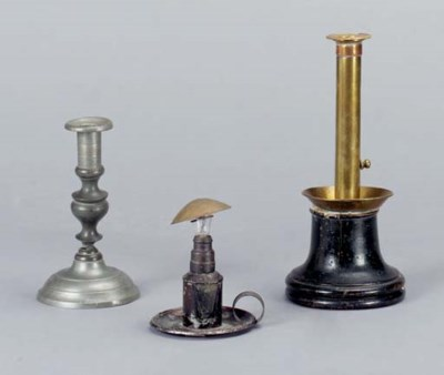 A GROUP OF LIGHT ACCESSORIES,