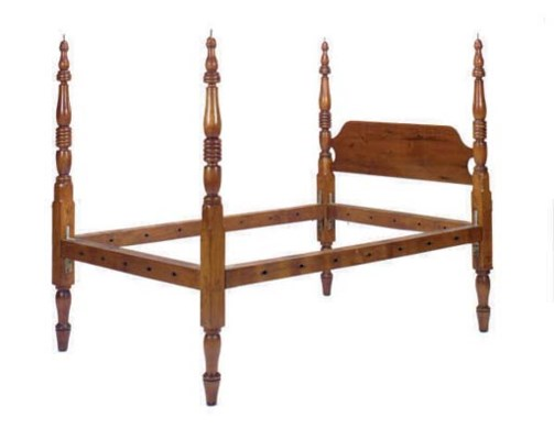 AN AMERICAN MAPLE CANOPY BED,