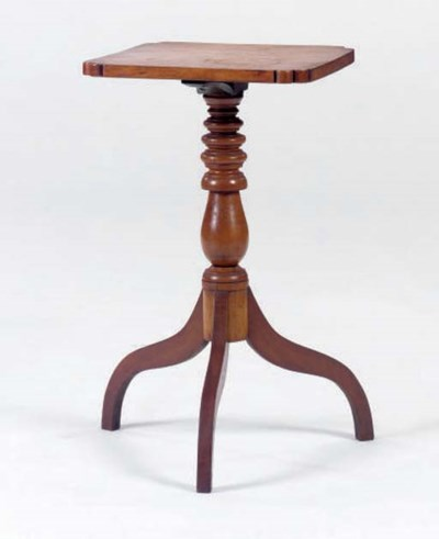 A SQUARE TOP CANDLESTAND,