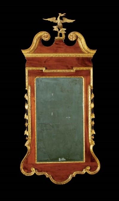 A GEORGE II MAHOGANY AND PARCE