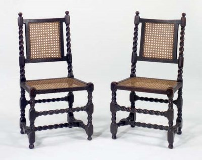 A PAIR OF CHARLES II CARVED OA