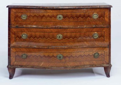 AN ITALIAN FRUITWOOD AND PARQU