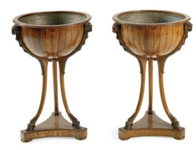 A PAIR OF VICTORIAN INLAID SAT