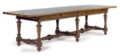 AN ITALIAN BAROQUE WALNUT REFR