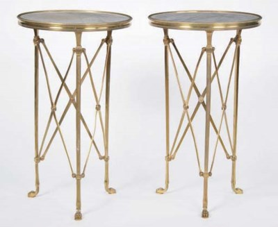 A PAIR OF LOUIS XVI STYLE MARB
