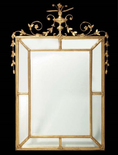A NEOCLASSICAL STYLE GILT COMP