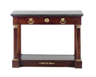 AN EMPIRE MAHOGANY AND GILT- B