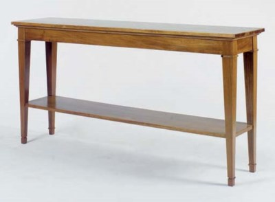 A FRUITWOOD SERVING TABLE,