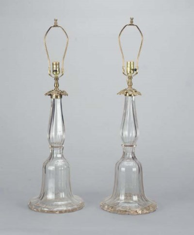 A PAIR OF BELL-FORM GILT-METAL