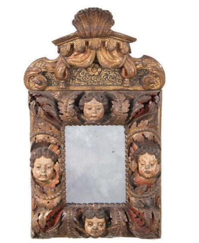 A SPANISH COLONIAL PARCEL-GILT