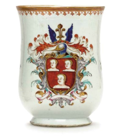 A LARGE BELL-SHAPED ARMORIAL M