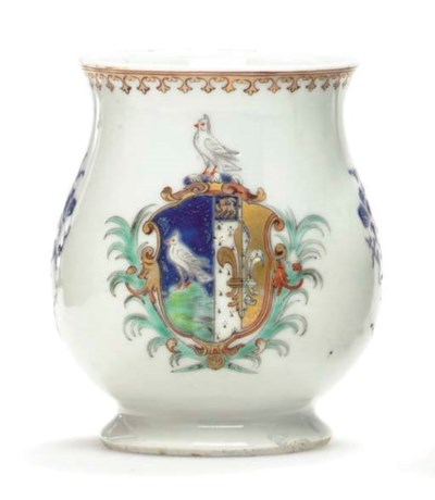 A SMALL BELL-SHAPED ARMORIAL M