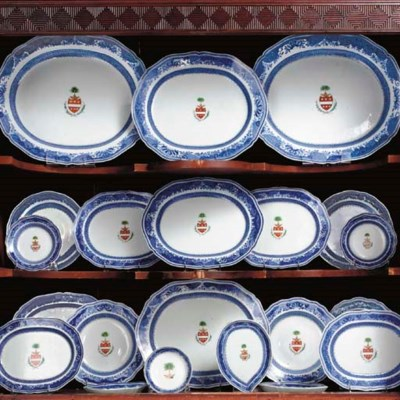A LARGE ARMORIAL DINNER SERVIC