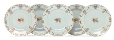 A SET OF ELEVEN ARMORIAL PLATE