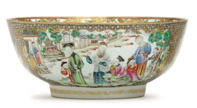 A FAMILLE ROSE AND GILT BOWL