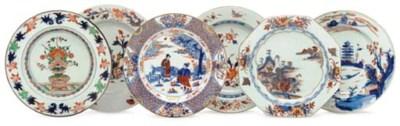 A GROUP OF NINE CHINESE IMARI