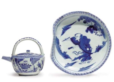 A JAPANESE BLUE AND WHITE DISH
