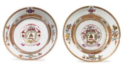 TWO LAMBERT SOUP PLATES