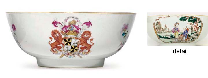 A FAMILLE ROSE ARMORIAL PUNCH