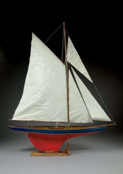 A large gaff rigged cutter pon