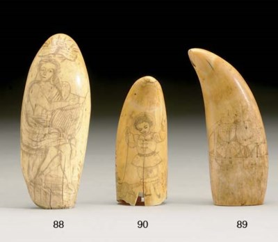 A scrimshaw whales tooth with