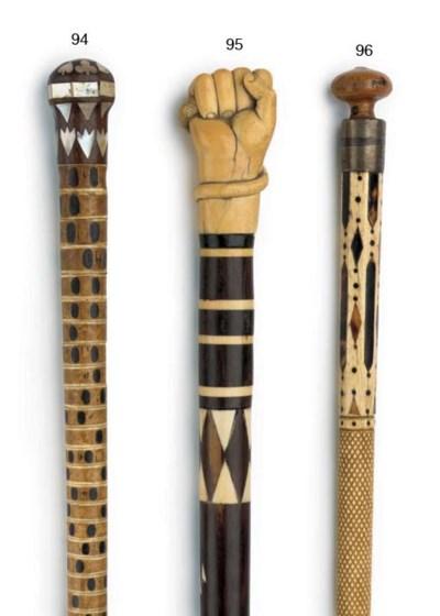 A 19th century vertabrae cane