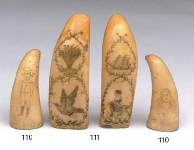 A pair of 19th century scrimsh
