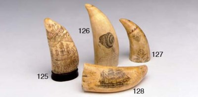 A 19th century scrimshaw and p